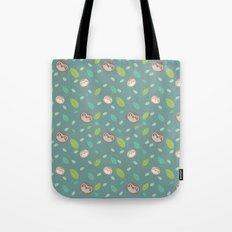 Sloth and Leaf Pattern Tote Bag