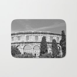 arena amphitheatre pula croatia ancient black white Bath Mat