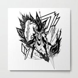 Hakuryuu Ren Djinn Equip Zagan 2 Metal Print