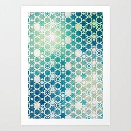 Stars Pattern #003 Art Print