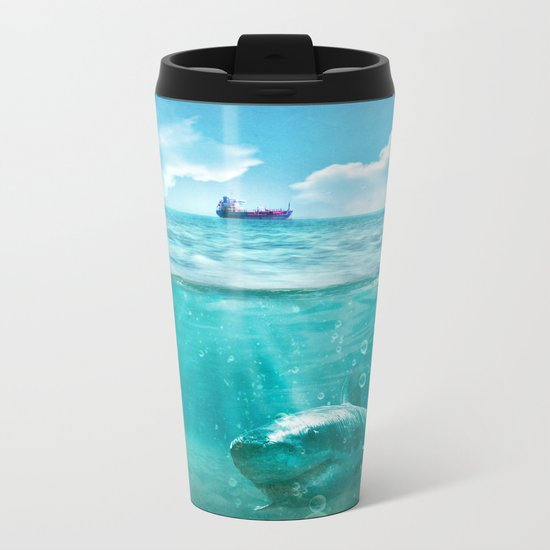 Blue Metal Travel Mug