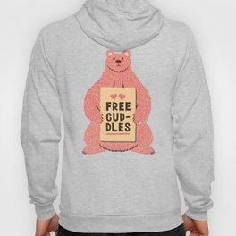 Cute Bear Free Cuddles Pink Hoody