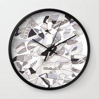 orca Wall Clocks featuring ORCA by Alex Rocha