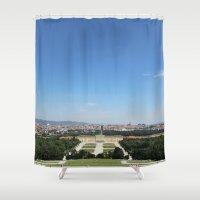 vienna Shower Curtains featuring Vienna - Cityscape by Andrew Schmidt