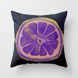 Sweet Purple Lemons Throw Pillow