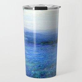 Bluebonnet Panoramic Landscape in Twilight painting by Robert Julian Onderdonk Travel Mug