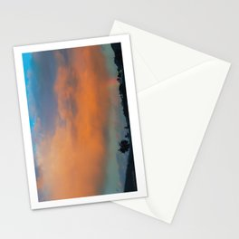 A Rainbow and Motel Somewhere Toward Monterey Stationery Cards