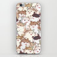 hamster iPhone & iPod Skins featuring Hamster Paradise by AquaZircon (LumiiLoup)