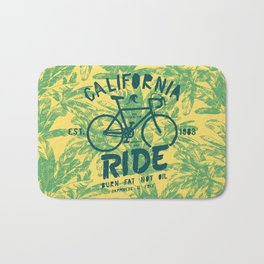 California Bicycle Ride Bath Mat