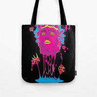 medusa Tote Bags featuring Medusa by Mario Sayavedra