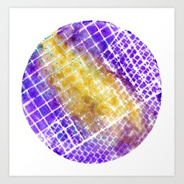 Purple and Gold Squared Art Print