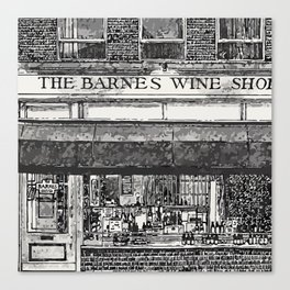 BARNES WINE Canvas Print