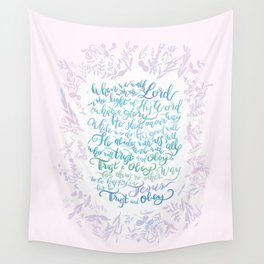 Trust and Obey - Hymn Wall Tapestry