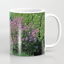As the Courtyard Beckons Coffee Mug