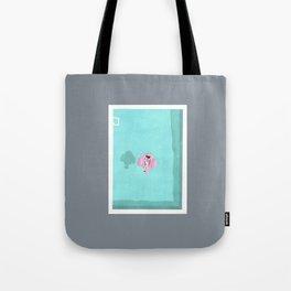 Flamingo floatie Tote Bag