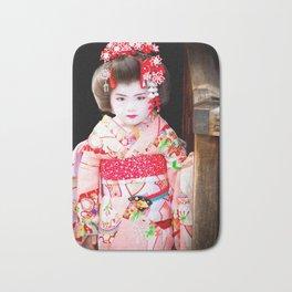 Japanese geisha girl Bath Mat