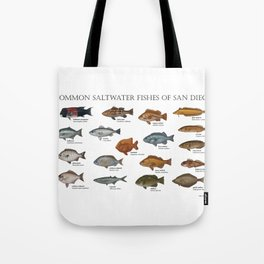 Saltwater Fishes of San Diego Tote Bag