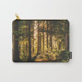 Woods  - Forest, green trees outdoors photography Carry-All Pouch