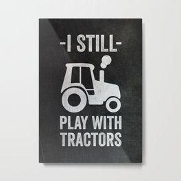 Farmer Funny Gift Metal Print