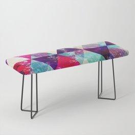 "Retro Geometrical Abstract Design ""Josephine"" inspired Bench"