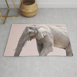 Elephant Dusty Pink Rug
