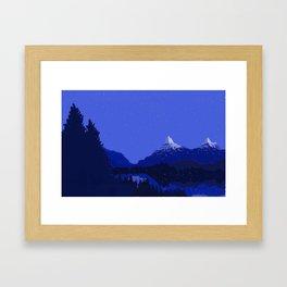 The Night Lake Framed Art Print