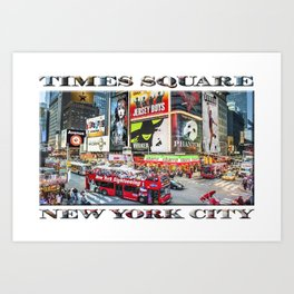 Times Square NYC (poster edition) Art Print