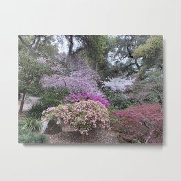 Spring - Garden in bloom Metal Print