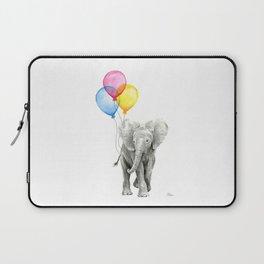 Baby Elephant with Balloons Nursery Animals Prints Whimsical Animal Laptop Sleeve