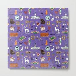 Friends TV Show Tribute Purple Pattern Metal Print