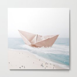 Let's sail away Metal Print