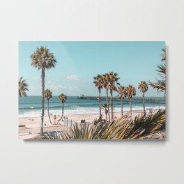 Oceanside Boardwalk & Pier, Oceanside, California Metal Print