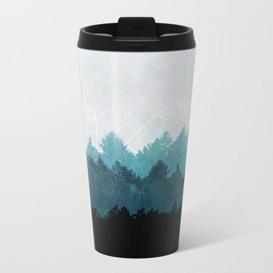 Woods Abstract  Metal Travel Mug
