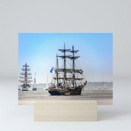 Majestic sailing view, Boston MA Mini Art Print