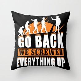 Evolution, Mutation, Throw Pillow