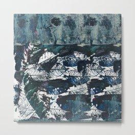 Bare bones in teal blue Metal Print