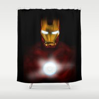 ironman Shower Curtains featuring ironman by Fila Venom Art