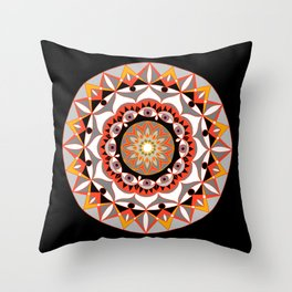 My Solar Plexus Mandhala | Secret Geometry | Energy Symbols Throw Pillow