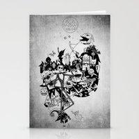 jack skellington Stationery Cards featuring Jack Skellington by bimorecreative