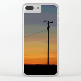 Rainbow Sunset Clear iPhone Case