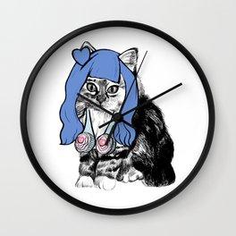 Cat Cupcake Wall Clock
