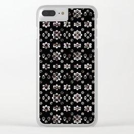 Dark Luxury Baroque Pattern Clear iPhone Case