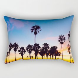 Venice Beach at Sunset Rectangular Pillow