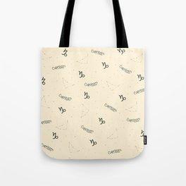 Capricorn Pattern - Beige Tote Bag