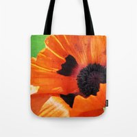 poppy Tote Bags featuring POPPY by Teresa Chipperfield Studios