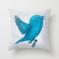 The Original Twitter - Painting Throw Pillow