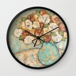 Flowers In Vase Wall Clock