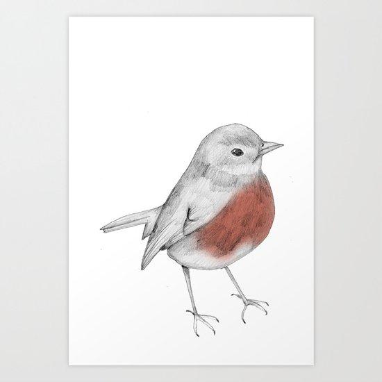 Lucky Robin Art Print