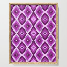 Kilim violet , purple, lilac, bohemian, Serving Tray