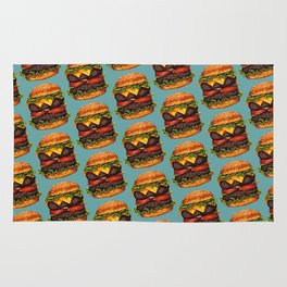 Double Cheeseburger Pattern Rug